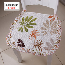 2016 2pcs Spring cushion office chair cushion thin section pastoral cloth stool chair mat slip mat Specials free shipping LH635