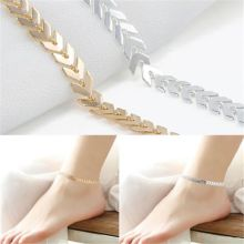 Summer Boho Fishbone Chain Anklets Fashion Ankle Foot Jewelry Body Jewelry For Women Gifts Free Shipping