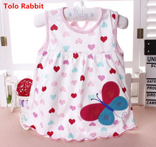 Baby Dresses Top Quality 2017 Princess 0-2years Girls Dress Cotton Clothing Dress Summer Girls Clothes Low Price