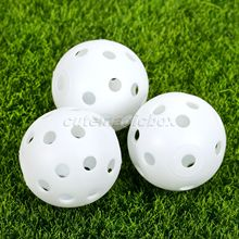 High Quality 50Pcs Whiffle Airflow Hollow Plastic Golf Balls Practice Tennis Golf Balls Training Golf Accessories Random Colors