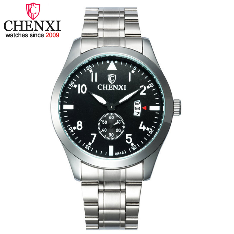 CHENXI Watches for men Fashion Quartz Watch for Boys Stainless Steel watchbands male luminous Waterproof Calendar Wristwatches<br><br>Aliexpress