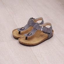 Boy Girl Sandals 2017 New Children Shoes For Girls Summer Sandals Cork Flat Shoes Comfortable Leather Kids Sandal