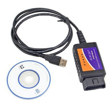 Universal ELM327 LED USB Interface Car OBDII OBD2 OBD 2 Diagnostic Tools Auto Car Scanner ScanTool Cable With CD Software