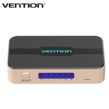 Vention ACDG0 Series High Definition 5 Input 1 Output HDMI Switcher Multi Screen Optinal Audio Video HDMI 1.4b 4K HD Connector
