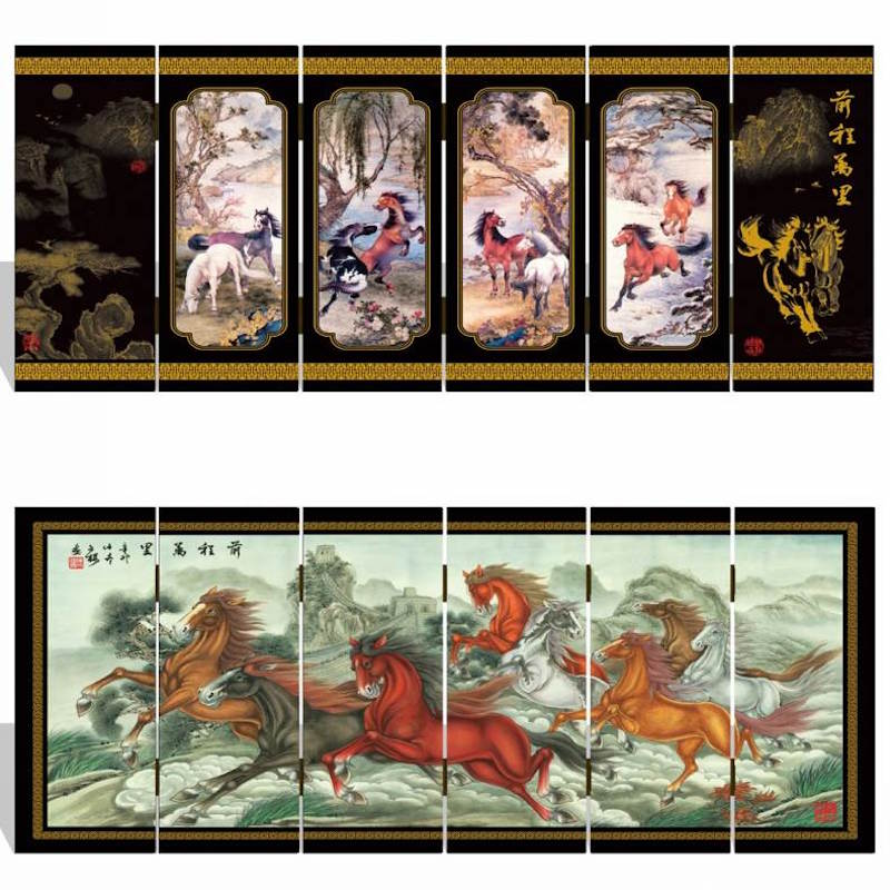 Chinese Mini Scree Miniature Mini Chinese Folding Screen The Eight Immortals