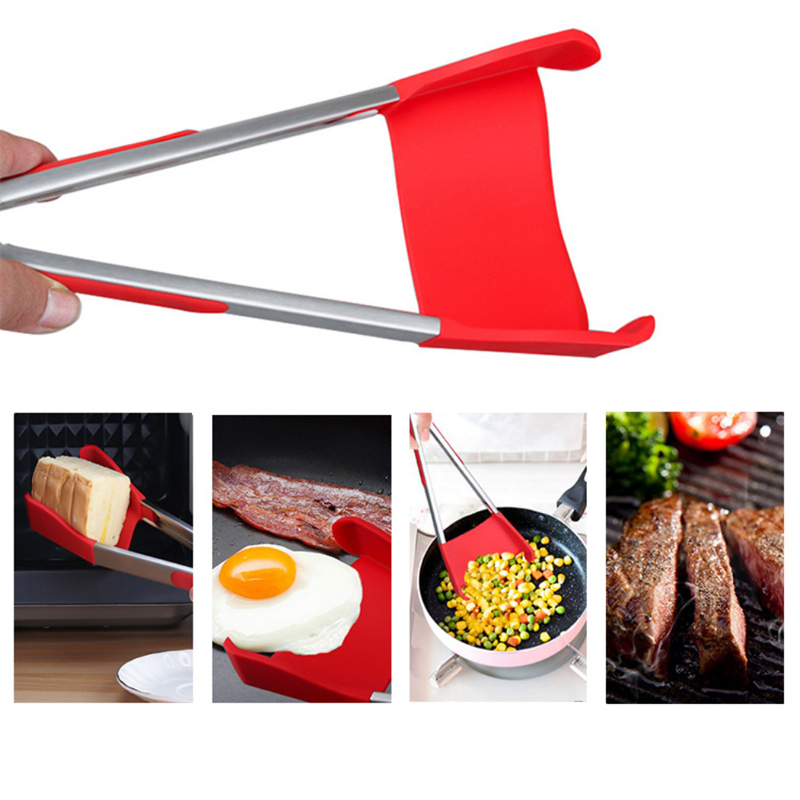 Honana BBQ 2-In-1 Collapsible Kitchen Spatula And BBQ Tong Non-Stick Stainless Steel Frame