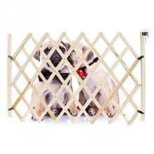 Baby Protection Pet Isolation Fence Pet Isolation Gate Simple Stretchable Wooden Fence(China)