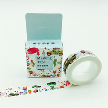 Cute Cartoon Childlike Truck Road Traffic Washi Paper Masking Tape for Scrapbooking Giftwrapping DIY Sticker 3051