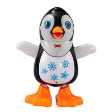 Baby Electric Penguin Kids Flashing LED Light Dancing Penguin Children Developmental Music Toy for Chirstmas Gift(China)