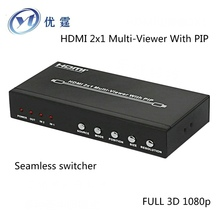 HDMI 2x1 Multi-Viewer With PIP Not black screen 2 port Seamless switcher 1080P hdmi swithcher 2 input 1 output