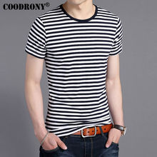 Buy COODRONY Fashion Striped O-Neck T-Shirt Men 2017 Spring Summer New Arrival 100% Cotton T Shirt Homme Short Sleeve Top Tees S7619 for $11.73 in AliExpress store