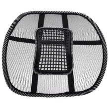 2016 New Universal Car Back Seat Mesh Lumbar Back Brace Support Cool Summer Car Seat Cover Office Home Auto Back Seat Cushion