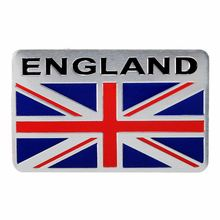 Aluminium Alloy Silver GB England UK Flag Emblem Badge Decal Decor Sticker For Car Truck Auto(China)