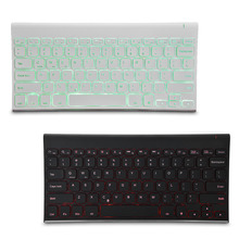 B.O.W HB086B Bluetooth Wireless Keyboard Backlit Rechargeable Keyboards For IOS Android Windows Desktop Laptop Tablet