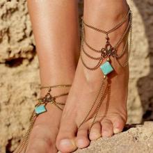NEW 1PC Summer Anklets Bohemian Ankle Bracelet Beach Wedding Foot Bracelet Jewelry Barefoot Sandal Chain for Women Men