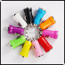 200pcs USB bullet mini charger for Mobile phone USB power For IPhone 4 4G 3G IPod HTC Samsung Nokia Motorola