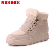 Buy Women Winter Boots Suede Warm Platform Snow Ankle Boots Women Casual Shoes Round Toe Sneakers Female Botas Mujer for $24.61 in AliExpress store