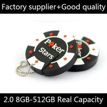 NEW Pen Drive 32gb Memoria Usb Flash Drive 16gb Rubber Poker Stars Pokerstars Usb Stick 64GB Memory Stick Pendrive 1TB 2TB Gift