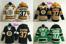 Best quality Mens 37# Patrice Bergeron Sweatshirt Embroidery Hoodie jersey(China)