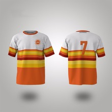 Custom with your design, team wear orange stripes baseball jersey