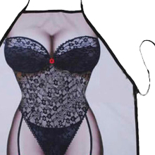 PHFU Sexy Novelty Apron Naked Woman Men Kitchen Cooking BBQ Party Bar Funny Aprons(China)