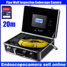 20M Cable industrial endoscope underwater video system pipe wall inspection system Sewer Camera DVR waterproof HD 700TVL(China)