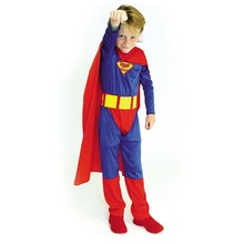 Children Classic Halloween Comic Superhero Costumes For Boys Kid Fantastic Christmas Gift Outfit Suit Clothes Party Superman Set