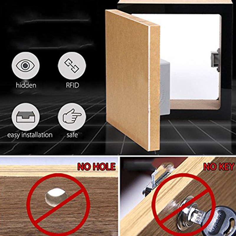 Battery RFID IC Card Sensor Cabinet Drawer Intelligent Smart Lock DIY UK E7Y3