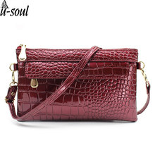 Famous Brands Fashion Women Clutches Casual Female Clutch Bags Alligator Women Messenger Bags Mini Cross Body Bags Tote C2148KK(China)