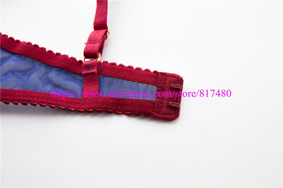New Sexy Lace bra brief set gathered underwear Woman push up bra set,brassiere lingerie set summer thin bra sets 6