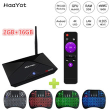 HAAYOT A5X Pro 2GB 16GB Android 7.1 TV Box RK3328 Quad-Core 64bit 4K Internet TV Media Player 5G AC WiFi Bluetooth Set Top Box