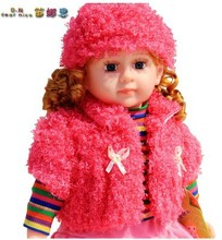 Free shipping kids doll baby Intelligent Talking Doll Cloth Children Cute  Girl toy Gift Large size 24-inch