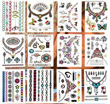 12pcs DIY party decoration temporary tattoo jewel japaness style flash tatoo christmas carnival wedding new year summer party