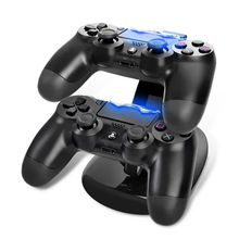 New Fashion Design OIVO Dual USB Charge Dock Gaming Controller Charging Stand for Sony Play Station 4 PS4 Charger OD#S