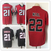 Mens 21 Deion Sanders Jersey 2017 Rush Salute to Service High Quality Football Jerseys(China)