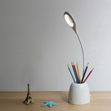 Adjustable Reading Lamp with Pen Container For Office  Students Eye Protection Desk lantern