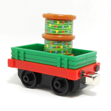 m028 New diecast magnetic Thomas and friend Christmas color lights transport trucks Limited Edition Children Christmas gifts(China)
