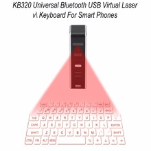 KB320 Universal Bluetooth USB Virtual Laser Keyboard Portable Size Bluetooth Projection Keyboard For Smart Phone