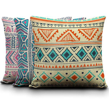 Cheap Aztec Seamless Pillow Cushion Case Euro kilim Pillow Cover Camping Square Linen Kids Birthday Decorative Halloween Cojin