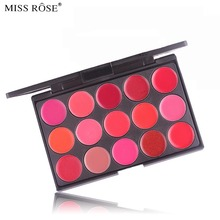 MISS ROSE Professional Waterproof Matte Lip Palette Color Cosmetic  15 Color Long Lasting Pigment Makeup Lipstick Palette