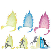 3 Color Dragonball Action Figure EFFECT Accessories Fix Saint Seiya /Figma /One Piece/Naruto PVC Z DBZ S.H.Figuarts SHF Tamashii(China)