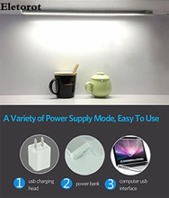 New LED Touch Sensor Kitchen Cabinet Light Lamp DC 5V Wardrobe Closet Showcase Bookshelf White USB Lamp With Touch Switch