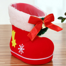 Christmas Boots decorations Christmas Flocking Boots Candy Gifts Box Creative Socks Decor Santa Claus Xmas Cute Ornament