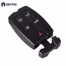 KEYYOU Replacement 5 Button Remote Key Shell Uncut Blade Fob Case Fit For Land Rover Freelander 2 3