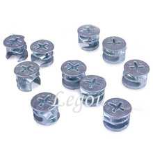 20pcs 15mm Eccentric Wheel Thickening Furniture Hardware Connector(China)