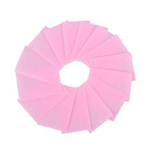 100 Pcs/lot Pink Nail Polish Remover Cleaner Manicure Wipes Lint Fast Cotton Pads Paper Nail Art Tips(China)