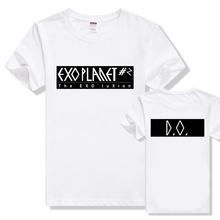 2016 Summer New Fashion SBS exo T-Shirts Couple Clothes Slim White t shirt women Tops Korean Star Letters Print Tees Plus Size
