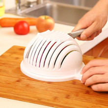 PVC Bowl Tools White Salad Bowl In 60 Seconds Maker Healthy Fresh Salads Made Easy Salad Cutter