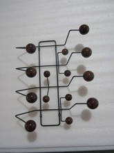 Walnut ball  black frame  Edisson home  as typical fashion candy Eeammes Hang It All coat rack hook coat hangers