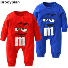 2017 New style Baby Boys Girls Clothes Autumn Cotton Long Sleeve Cartoon Red and Blue Romper Toddler Outfits Infant Clothing Set